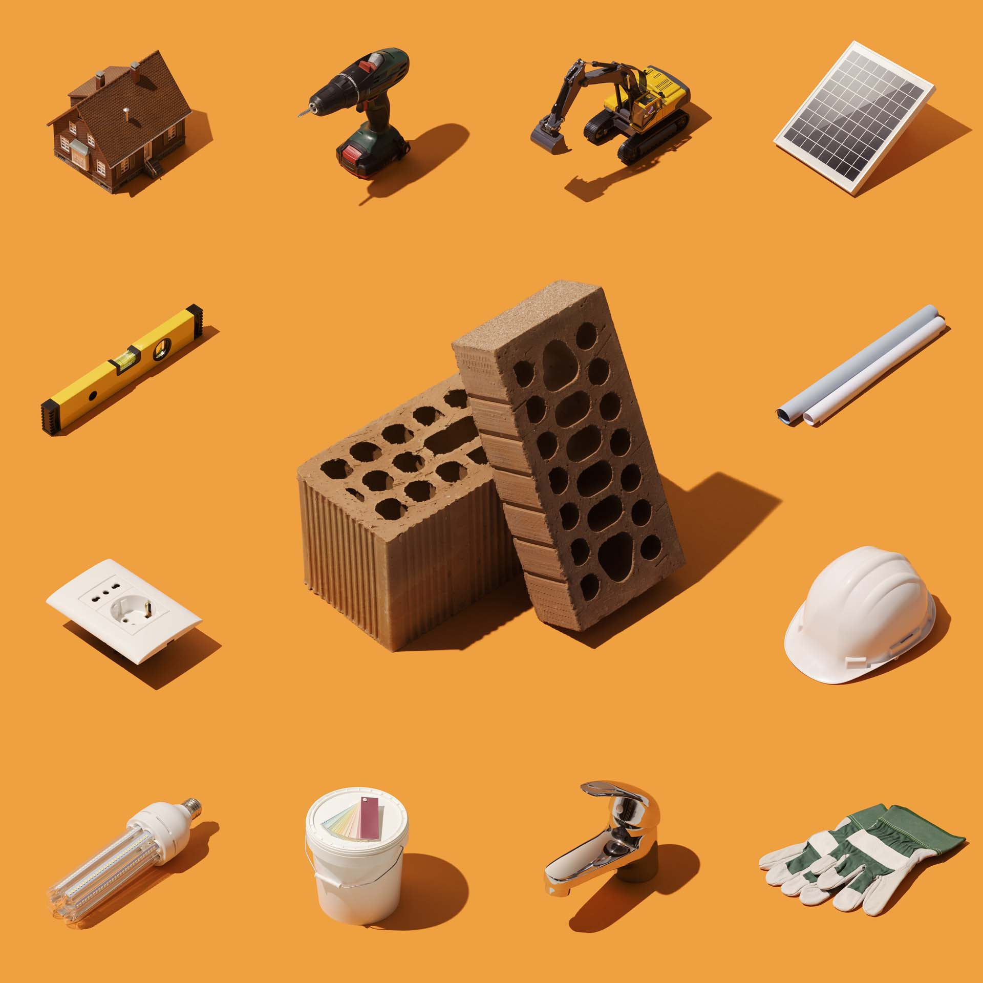 Materialien Hausbau